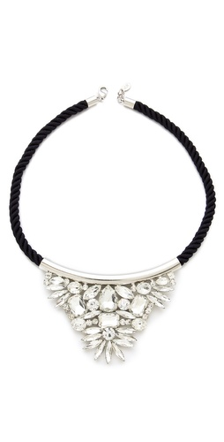 Noir Jewelry Crystal Triangle Necklace