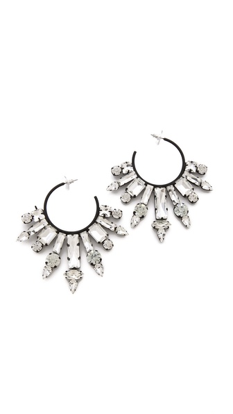 Noir Jewelry Nightfall Hoop Earrings