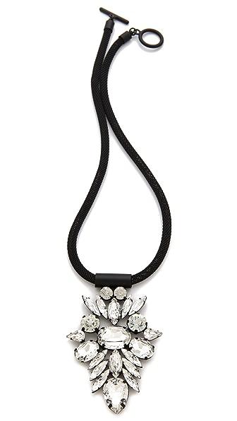 Noir Jewelry Nightfall Crystal Pendant Necklace