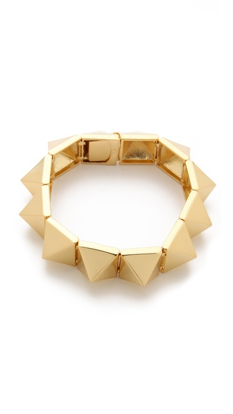 Noir Jewelry Pyramid Stud Bracelet