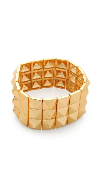 Noir Jewelry Triple Pyramid Stud Bracelet