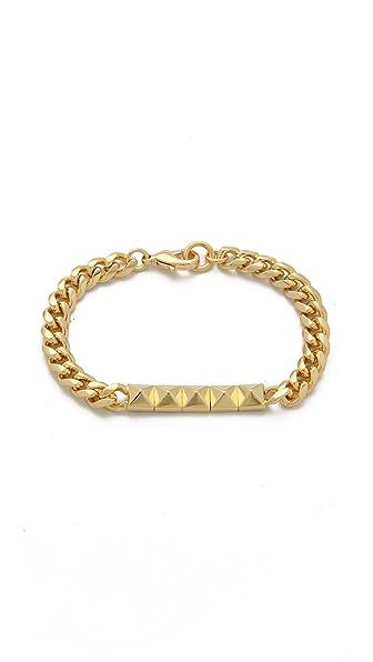 Noir Jewelry Pyramid ID Bracelet