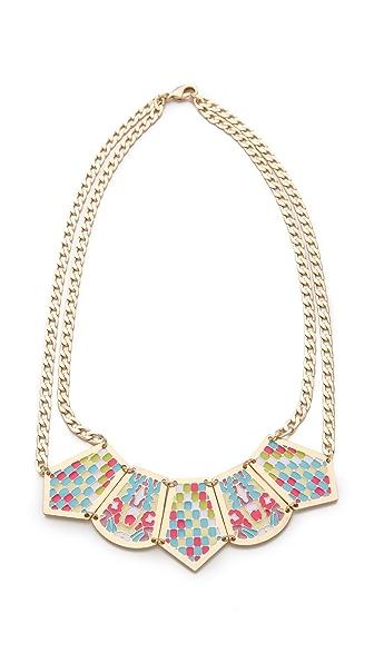 Noir Jewelry Short Pastel Hacienda Necklace