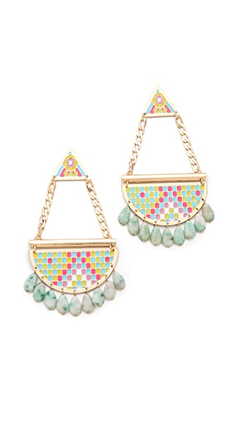 Noir Jewelry Pastel Hacienda Chandelier Earrings