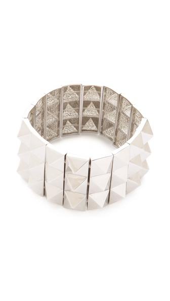 Noir Jewelry Triple Pyramid Stud Bracelet