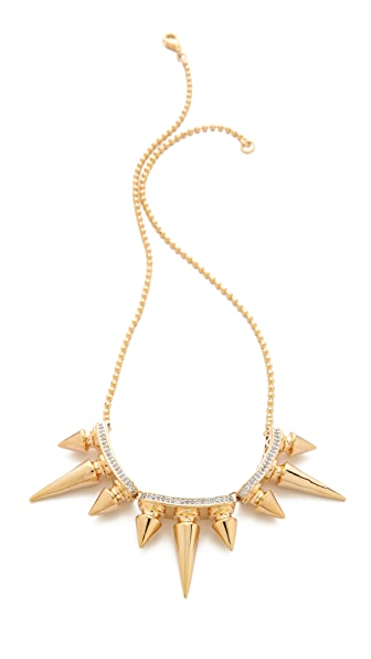 Noir Jewelry Metal Mix Triple Spikes Necklace