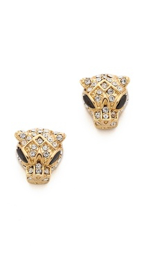 Noir Jewelry Jaguar Stud Earrings