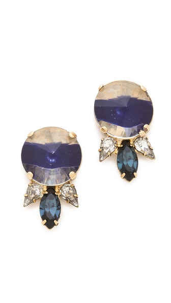 Noir Jewelry Gem Stud Earrings