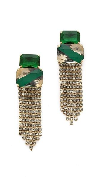 Noir Jewelry Crystal Fringe Drop Earrings