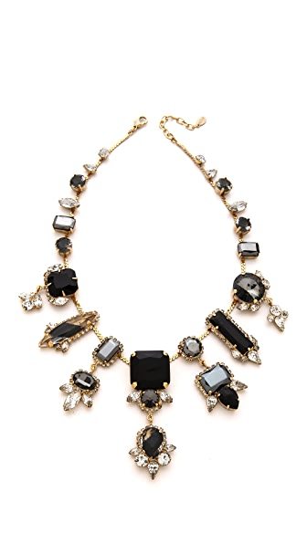 Noir Jewelry Multi Drop Crystal Necklace