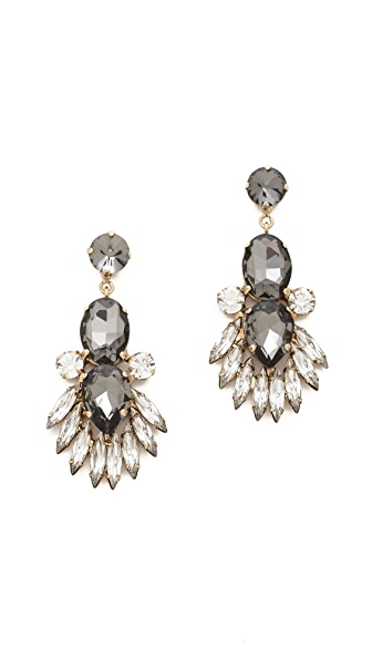 Noir Jewelry Crystal Drop Earrings