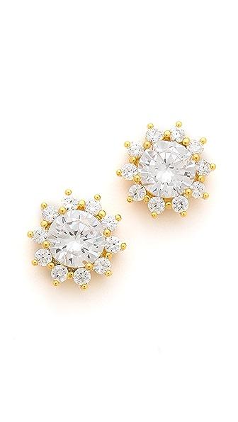 Noir Jewelry Sunburst Crystal Earrings