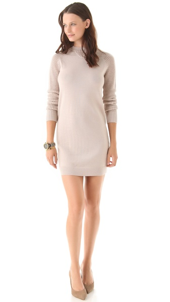 Nonoo Mesh Knit Sleeve Dress