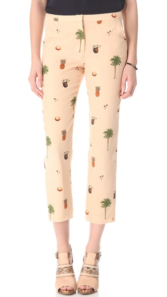 Nonoo Botanical Print Trousers