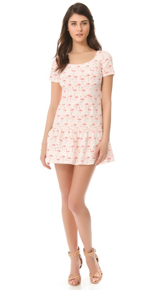Nonoo Monica Flamingo Dress