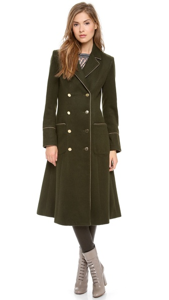 Nonoo Long Coat with Piping