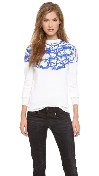 Nonoo Printed Porcelain Bess Sweater