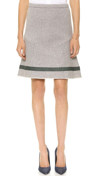 Nonoo Quilted Skirt with Leather Trim