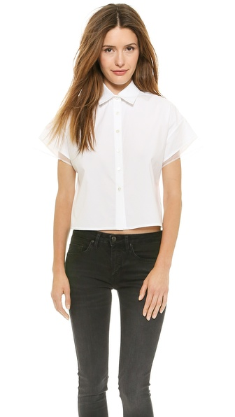 Nonoo Oxford Top with Back Pleat