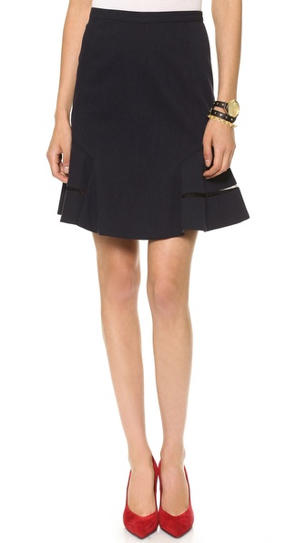Nonoo Flare Skirt with Chiffon Inserts