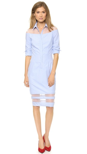 Nonoo Shirtdress with Organza Panels