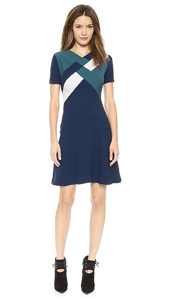 Misha Nonoo Drop Waist Dress with Geo Detail