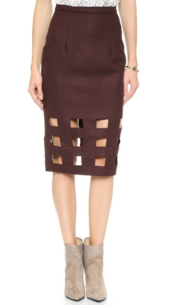 Nonoo Wool Pencil Skirt