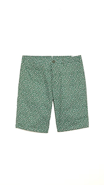 Norse Projects Bruno Poplin Slub Print Shorts