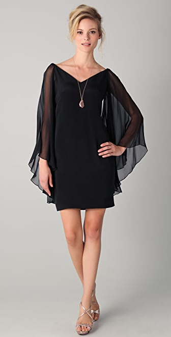 Notte by Marchesa Chiffon Sleeve Dress