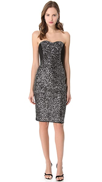 Notte by Marchesa Sequin Corset Dress