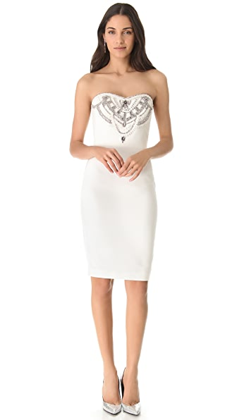 Notte by Marchesa Embroidered Strapless Dress