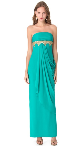 Notte by Marchesa Beaded Strapless Gown