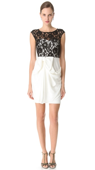 Notte by Marchesa Lace Bateau Cocktail Dress
