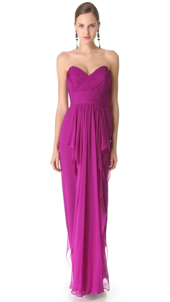 Notte by Marchesa Strapless Column Dress