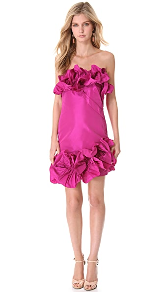 Notte by Marchesa Ruffled Strapless Cocktail Dress