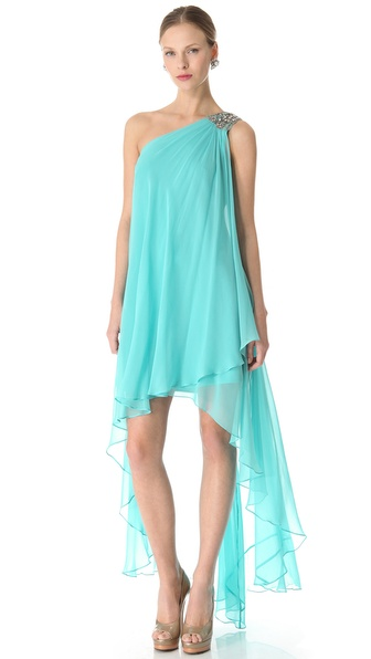 Notte by Marchesa Cascade One Shoulder Dress