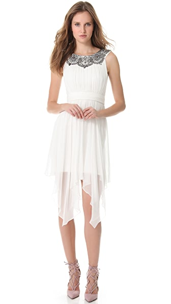 Notte by Marchesa Silk Chiffon Cocktail Dress