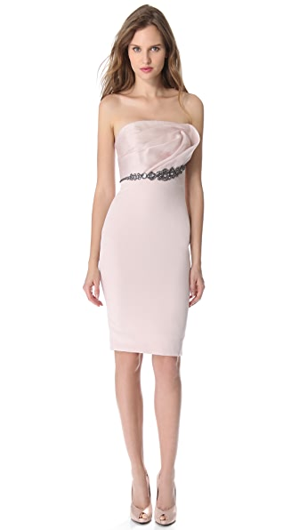 Notte by Marchesa Draped Top Cocktail Dress