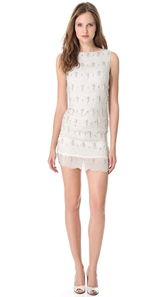Notte by Marchesa Fully Beaded Shift Dress