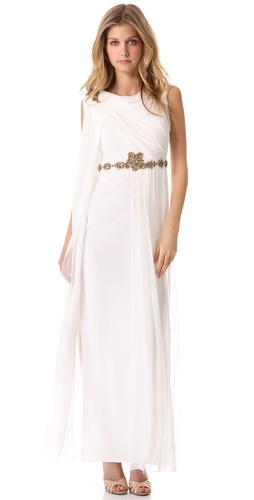 Notte by Marchesa Embroidered Chiffon Gown