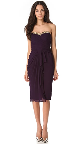 Notte by Marchesa Cascade Strapless Dress