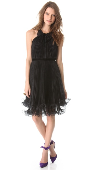 Notte by Marchesa Pleated Cocktail Dress