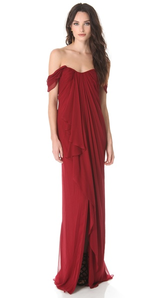 Notte by Marchesa Grecian Chiffon Gown