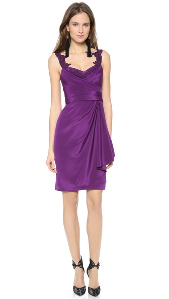 Notte by Marchesa Silk Crepe Dress