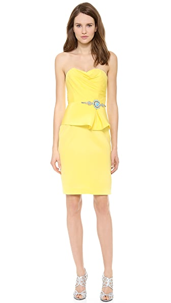 Notte by Marchesa Strapless Crepe Cocktail Dress