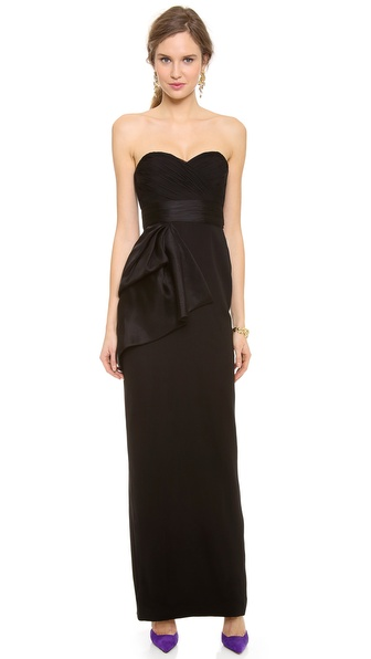 Notte by Marchesa Strapless Chiffon Gown