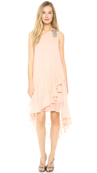 Notte by Marchesa One Shoulder Chiffon Cocktail Dress