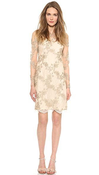 Notte by Marchesa Embroidered Tulle Cocktail Dress