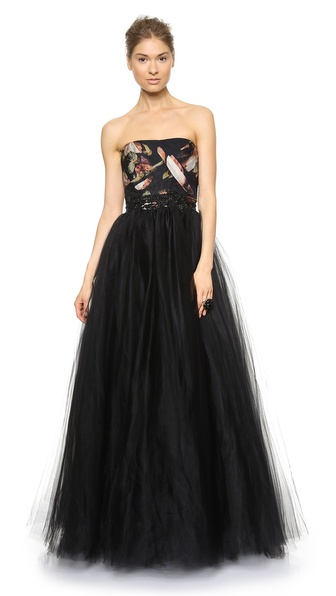 Notte by Marchesa Strapless Ball Gown