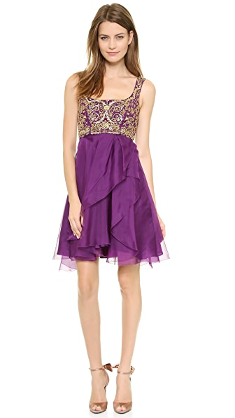 Notte by Marchesa Silk Organza Cocktail Dress